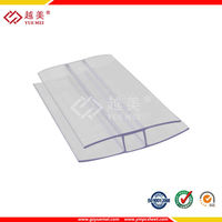 PC H SNAP Profile polycarbonate sheets accessories Terminal Profile
