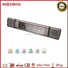 Bluetooth infrared heater with speaker, on/off LED atmosphere light button