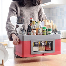 JY-6020 Multi-function plastic kitchen Spice rack