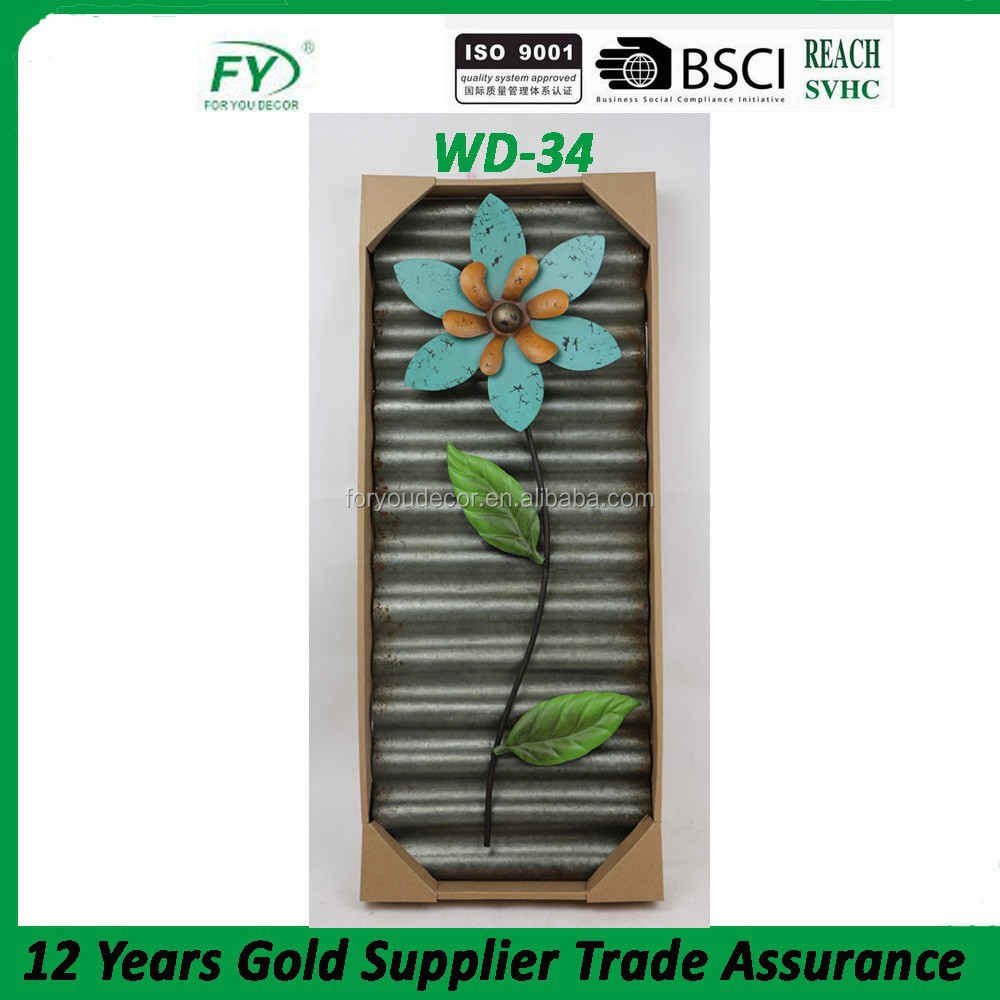 Autumn home metal flower wall hanging decoration WD-34