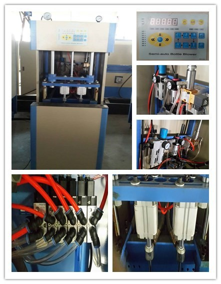 4 Cavity Blowing Machine Semi-Auto Pet Blow Machine For Plastic Water Bottle Blowing Machine Semi Auto Pet Bottle