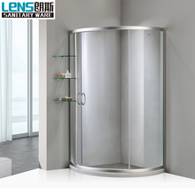 Corner entry sliding enclosed shower cubicles