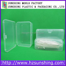 Clear very small 1 compartment plastic boxes for trinket