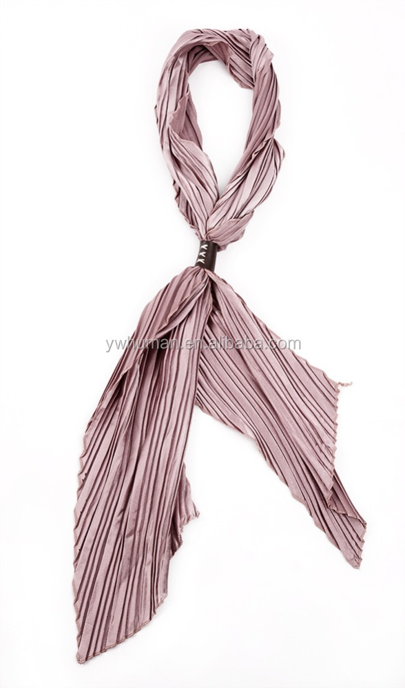 2016 New Arrival Women Fashion Stain Scarves 55 x 11 Inches Stripe Printing Fold Cravat