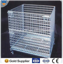 storage wire mesh zinc plated steel welded wire mesh pallet cage