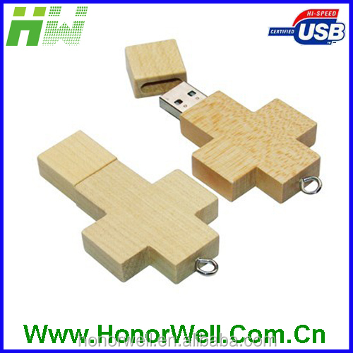 the cross wooden usb stick 128gb usb for promotional gift