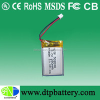 high quanlity li polymer battery 502030 promotion 3.7V with wire and pcb