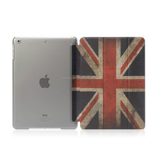 New arrival DDC factory Union Jack PC and PU leather cover case for ipad for ipad mini