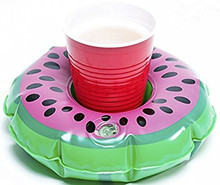 Latest design wiht Inflatable Watermelon/Lemon Drink Cup Holder Float for Water Party