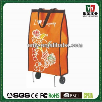 Newly Arrival wheel popular fashion folding shopping cart bag