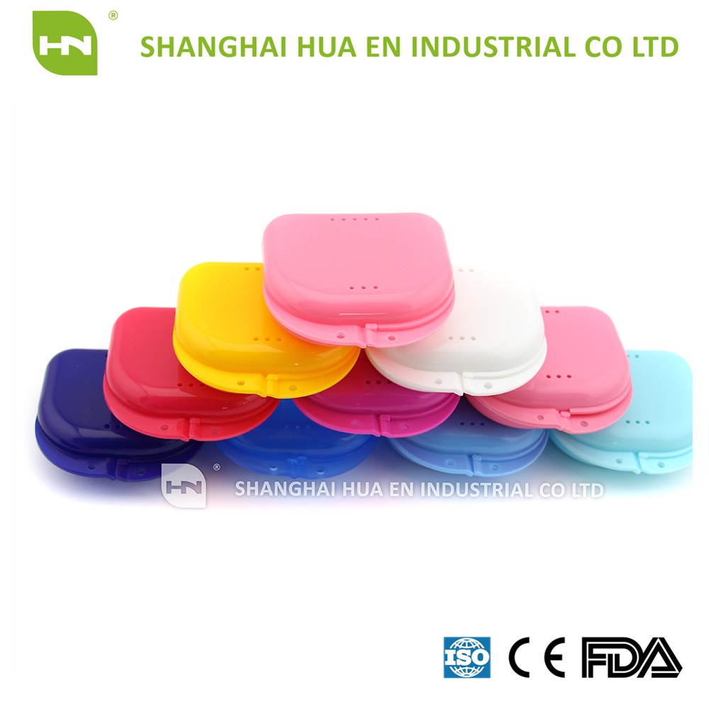 Various color Orthodontic Dental Retainer Case,False Teeth Retainer Box Plastic,Denture Box