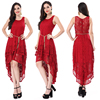 2018 Pattern of fat woman red lace dress pattern
