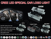 2 LED Car door courtesy laser projector Logo Ghost Shadow Light For M power
