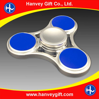 decompression colorful tri fidget hand spinner, fidget finger spinner bearing ceramic brass