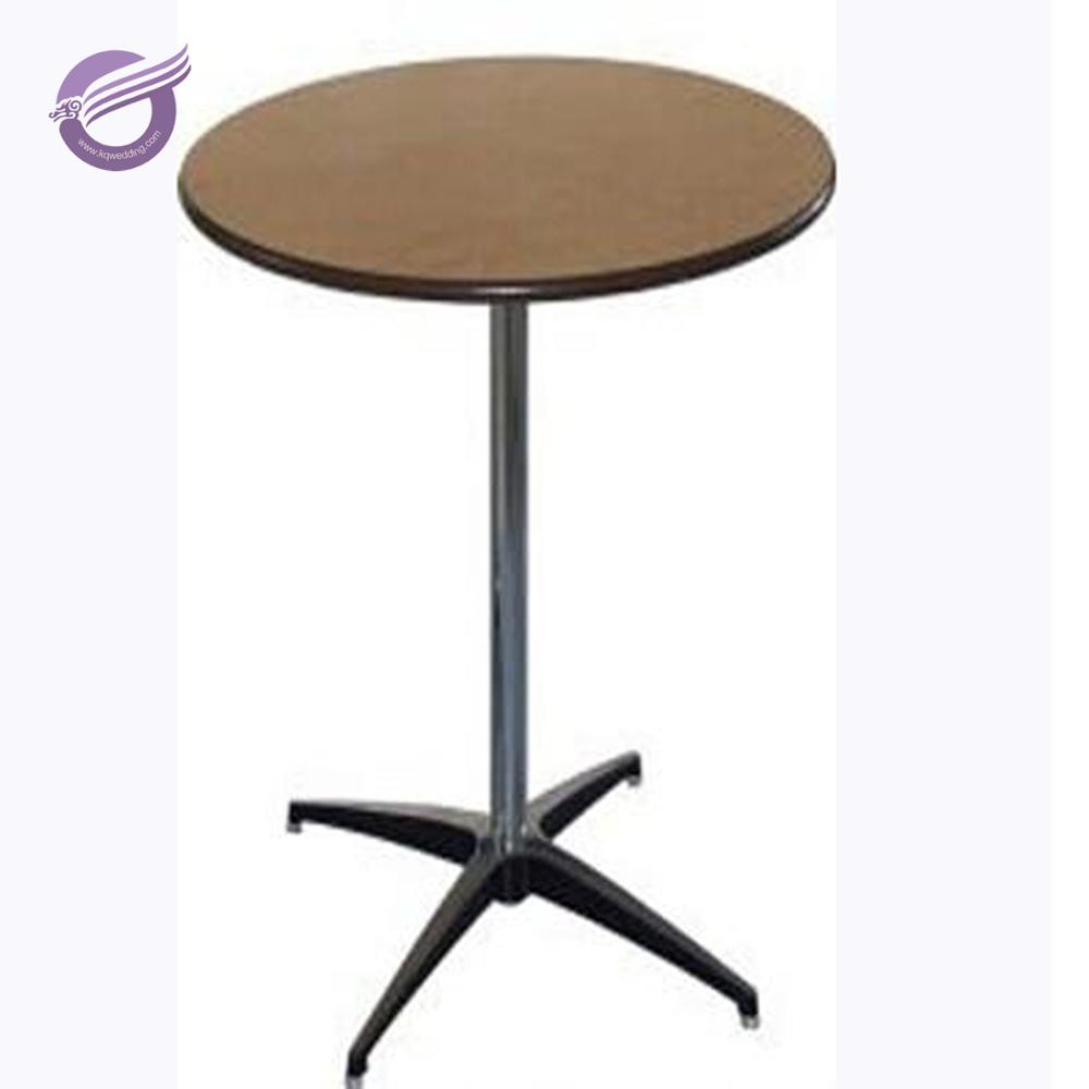 ZY39180 wood high quality nature centerpiece round camping relaxing round bar table