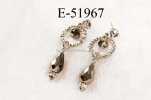 Fashion diamond earrings black spinel jewelry handmade women earring jewelry made with crystal beads