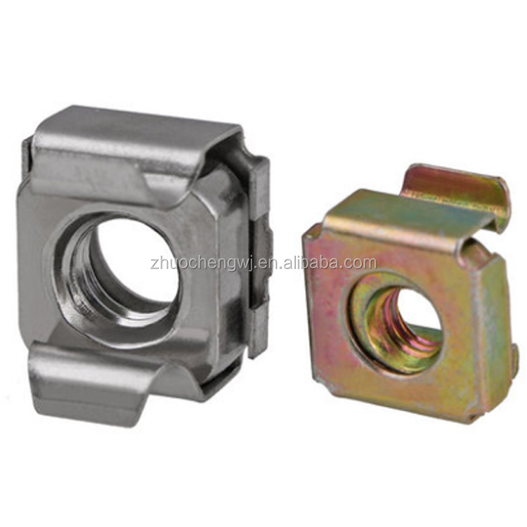High quality Zinc Plated Lock Cage Nuts Carbon Steel Square Weld Lock Cage Nut