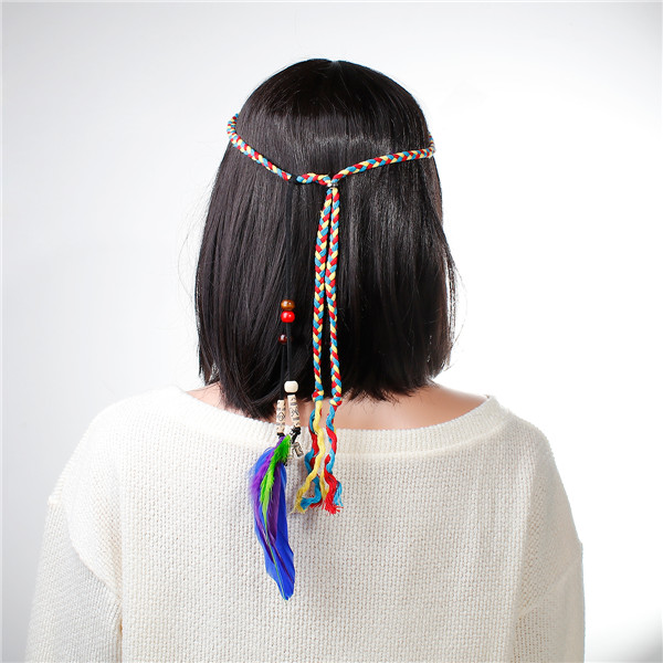Alibaba Express Jewelry DIY Hair Accessories Beautiful Indian Style Hair Band Leather Head Band