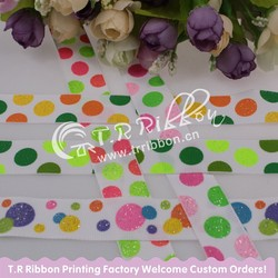 China Fujian Custom Printed Ribbon, polka dot design