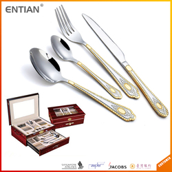 buy direct from china factory, gold flatware , cutlery set 72, gold plated flatware wholesale