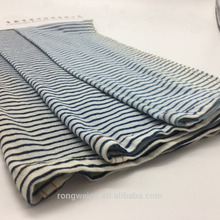 Indigo 100% cotton knitted jersey stripes fabric price for sportswear