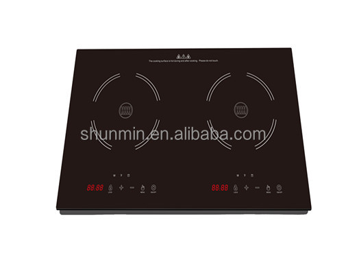 2017 ETL 120V good quality double induction cooktop best-selling in US market