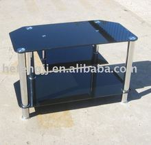 modern simple black glass tv stand, tv table,