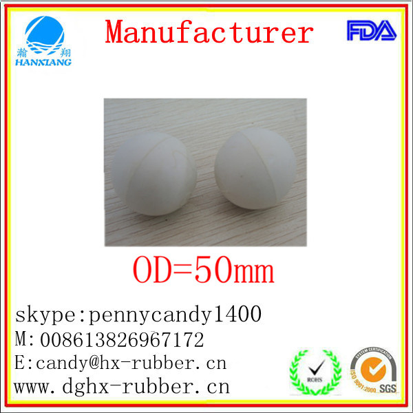 Dongguan manufacturer high bouncy hollow natural rubber ball