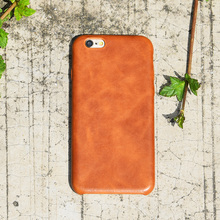 Brown leather phone case,for iphone 6 case leather genuine
