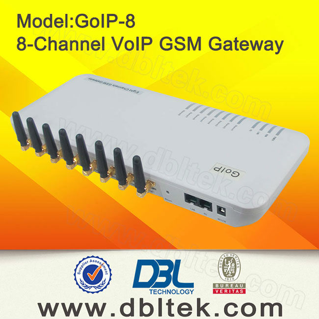 Grey GSM Gateway GoIP 8 / Free Unlimited Voip Calls