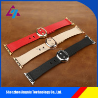 New arrival !!MODERN BUCKLE with connection adapter leather watch band strap wrist band for Apple watch