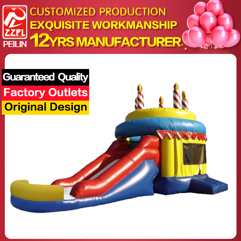 Birthday Party Inflatable Bouncy Castle With Water Slide
