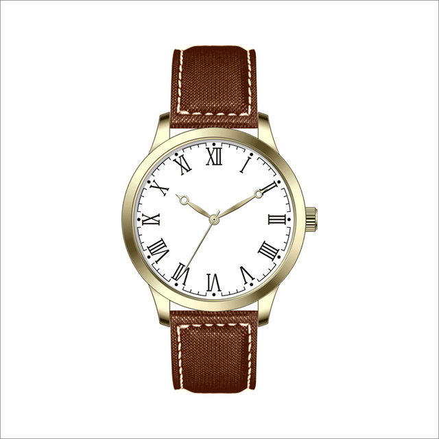 2017 New Minimalist Style Genuine Leather Strap & Wrist Watches With Roman Numerals
