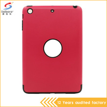 Promotions high quality low moq flexible price tpu pc red case for ipad mini 3
