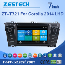 Auto Electronics High quality 7'' hd car dvd radio for Toyota Corolla