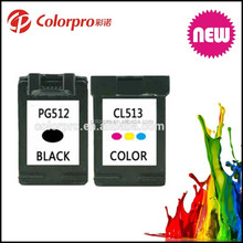 2016 hot Product Print cartridge PG-512 CL-513 for Canon ink cartridge PG512 for Canon pixma ip2700/mp240/mp250/mp260/mp270