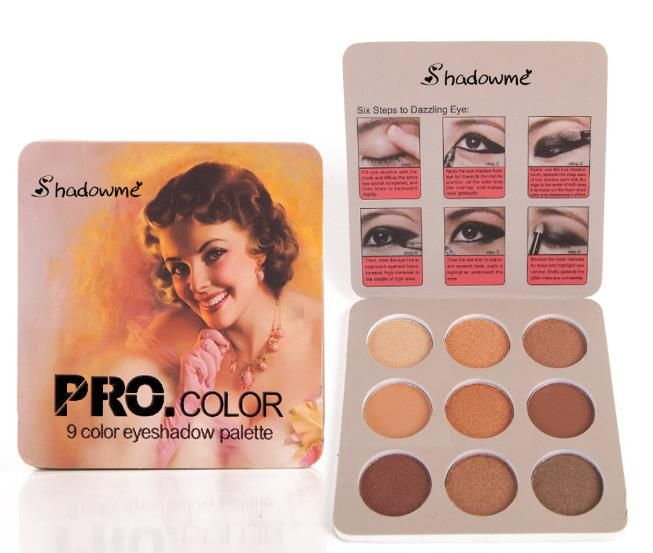 Ready To Ship Shadowme <strong>Cosmetic</strong> 9 Color Pocketable Cheap Eyeshadow Palette