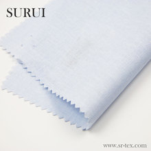 High quality yarn dyed blue ramie fabric for women dresses