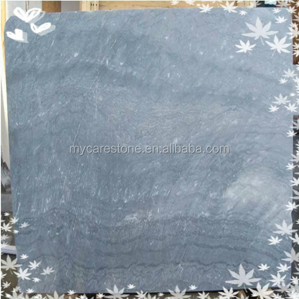 4'up x8'up polished grey blue marble