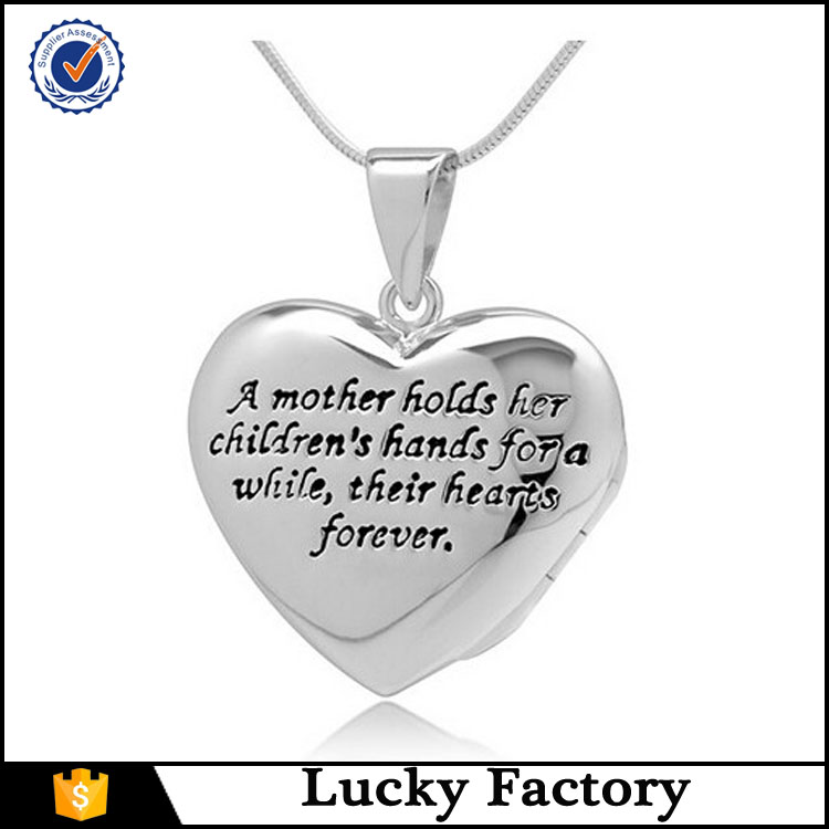 A Mother Holds Her Children's Hands for a While However Their Hearts Forever Necklace Jewelry
