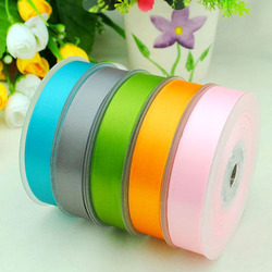 colorful polyester ribbon double faced satin Ribbon for bowknot
