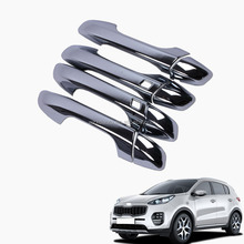ABS Chrome Door Handle Cover Trim 8 Pcs For Sportage Accessories 2016 2017
