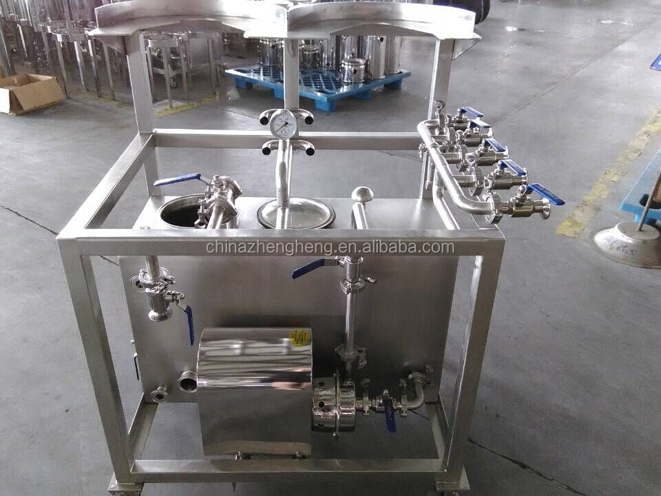 Stainless steel keg washer with pump