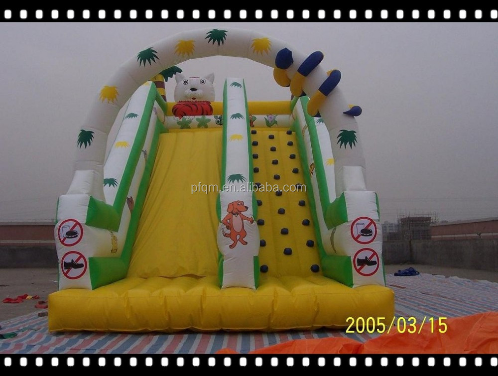 Factory price inflatable stair slide rabbit shape slide on discount