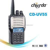 Chierda dual band two way radio with dual band antenna