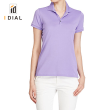 new fashion wholesale 100% cotton dry fitness compression polo t shirts for women