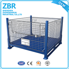 Heavy Duty Industrial Collapsible Steel Wire Mesh Storage Crate