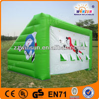 Air blown soccer goal shooting target portable CE certified