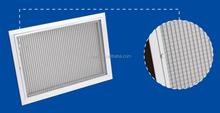 Egg crate return air grille with filter