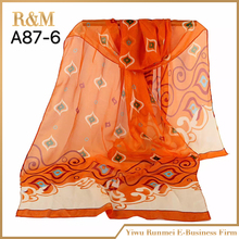 Latest product OEM design italian silk scarf from China